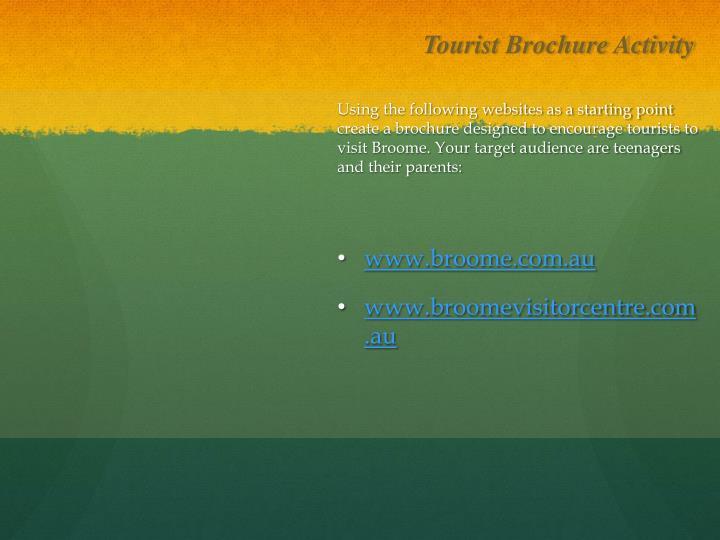 Tourist Brochure Activity