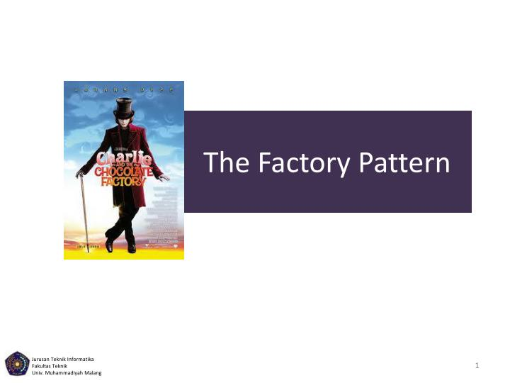 the factory pattern n.