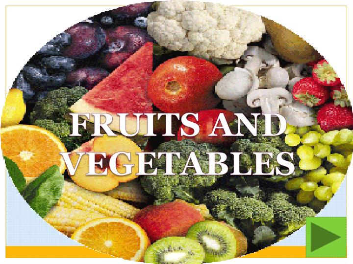 Ppt Fruits And Vegetables Powerpoint Presentation Free