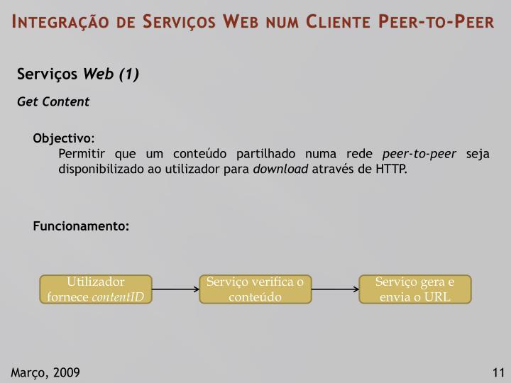 Integração de Serviços Web num Cliente Peer-to-Peer