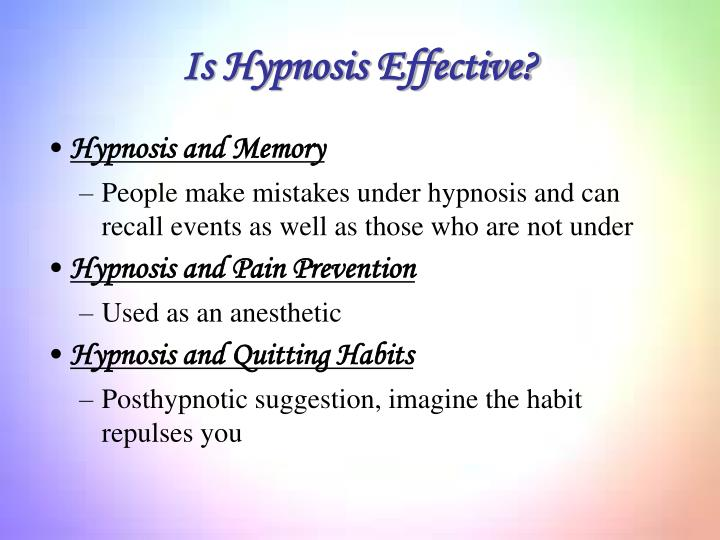 Is Hypnosis Effective?