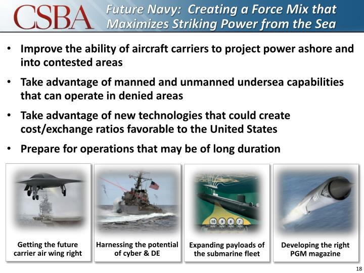 Future Navy:  Creating a Force Mix that Maximizes Striking Power from the Sea
