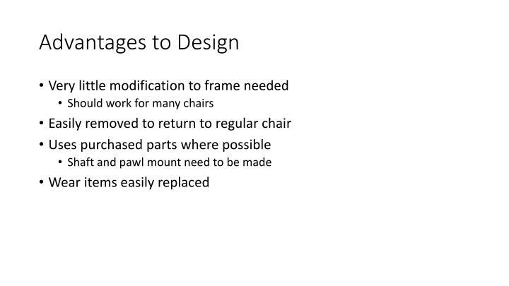 Advantages to Design