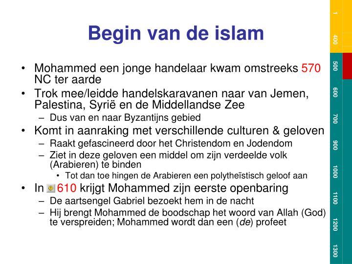 Begin van de islam