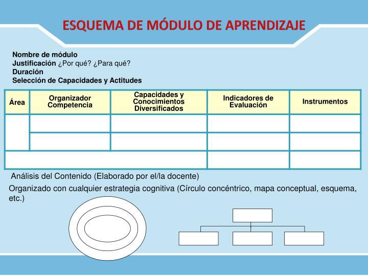 ESQUEMA DE MÓDULO DE APRENDIZAJE