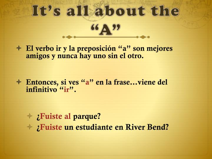 """It's all about the """"A"""""""