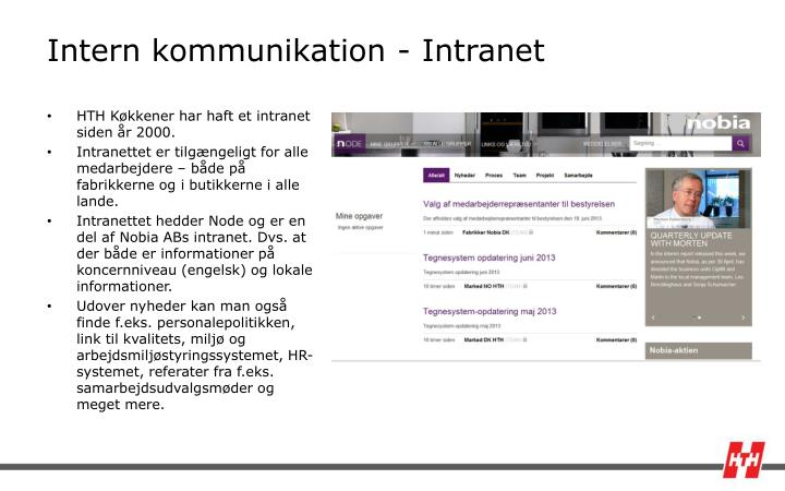 Intern kommunikation intranet