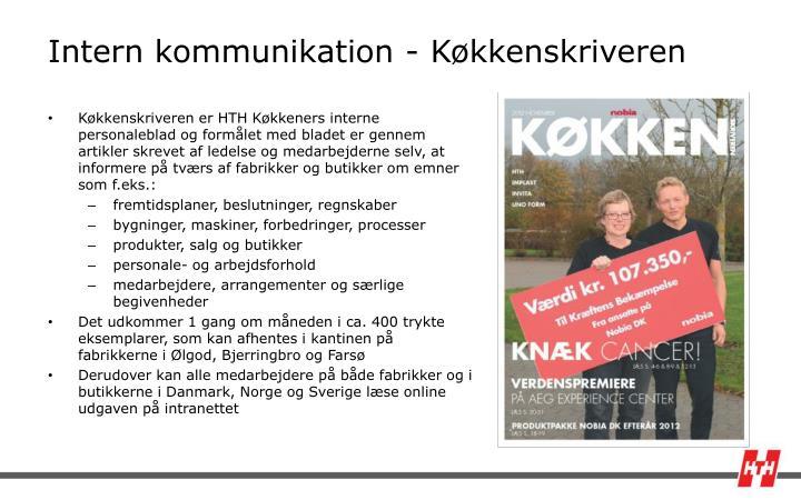 Intern kommunikation - Køkkenskriveren