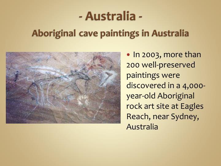 - Australia -