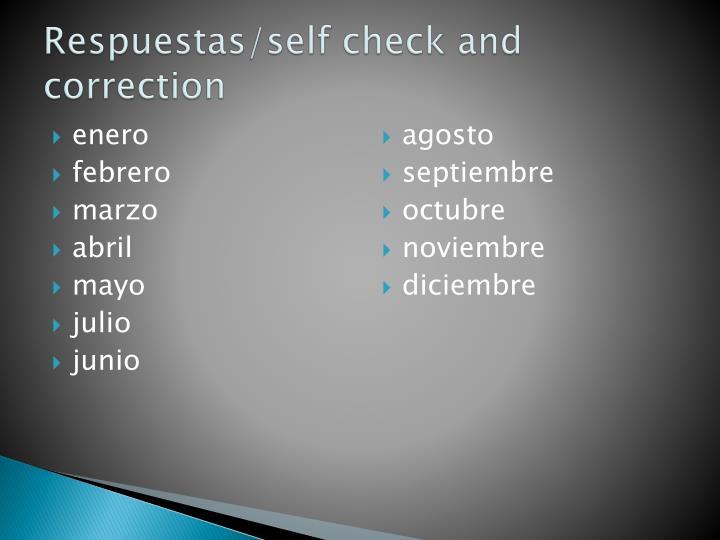 Respuestas self check and correction