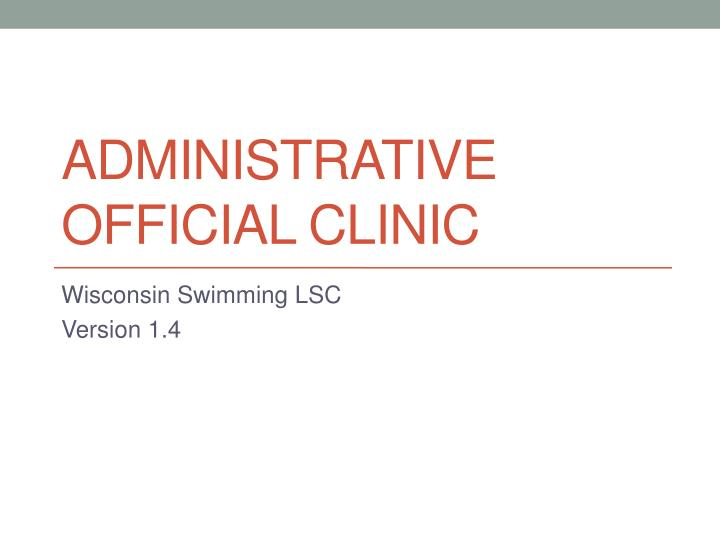 administrative official clinic n.