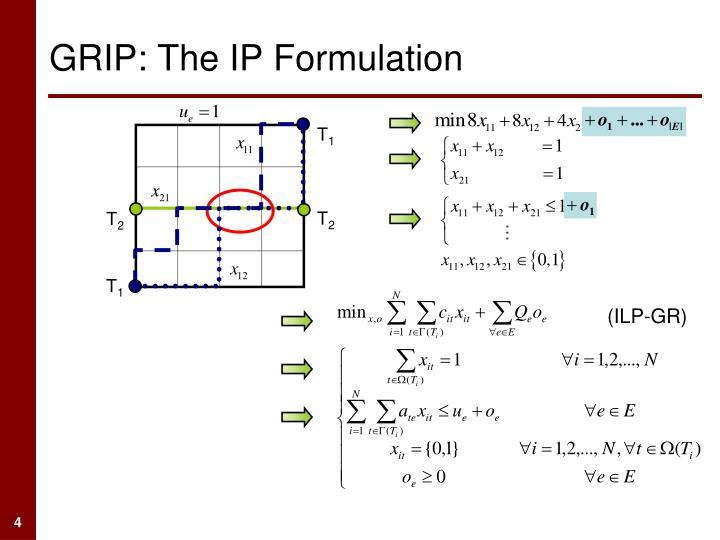 GRIP: The IP Formulation