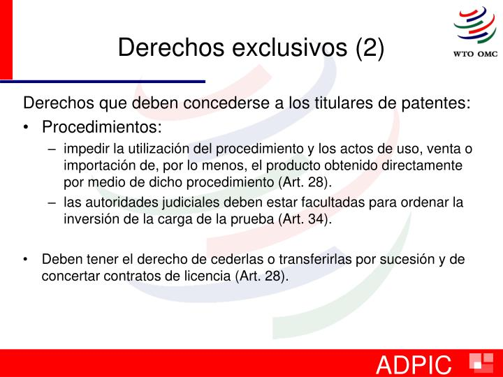 Derechos exclusivos (2)