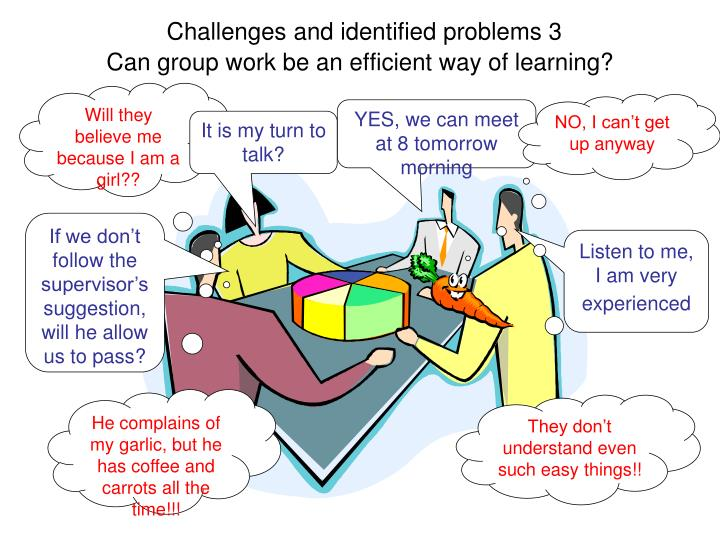 Challenges and identified problems 3