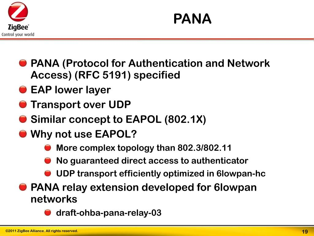 PPT - The ZigBee IP Stack IPv6-based stack for 802 15 4