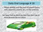 daily oral language 18