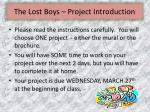 the lost boys project introduction