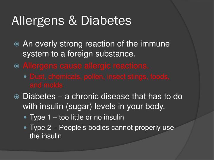 Allergens & Diabetes