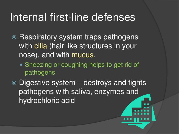 Internal first line defenses
