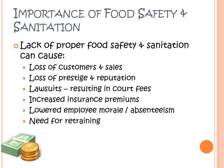 Importance of Food Safety & Sanitation