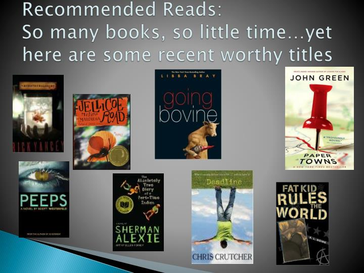 Recommended Reads: