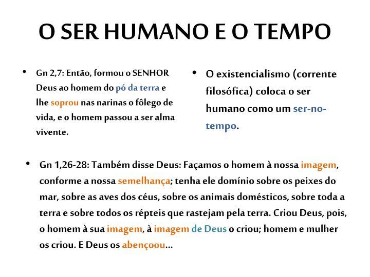 O ser humano e o tempo