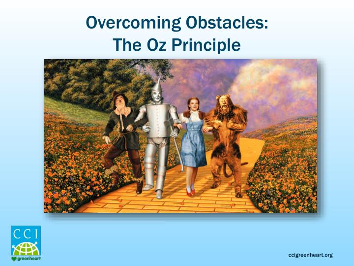oz principle The book: the oz principle: getting results through individual and  organizational accountability, by roger connors, tom smith and craig.