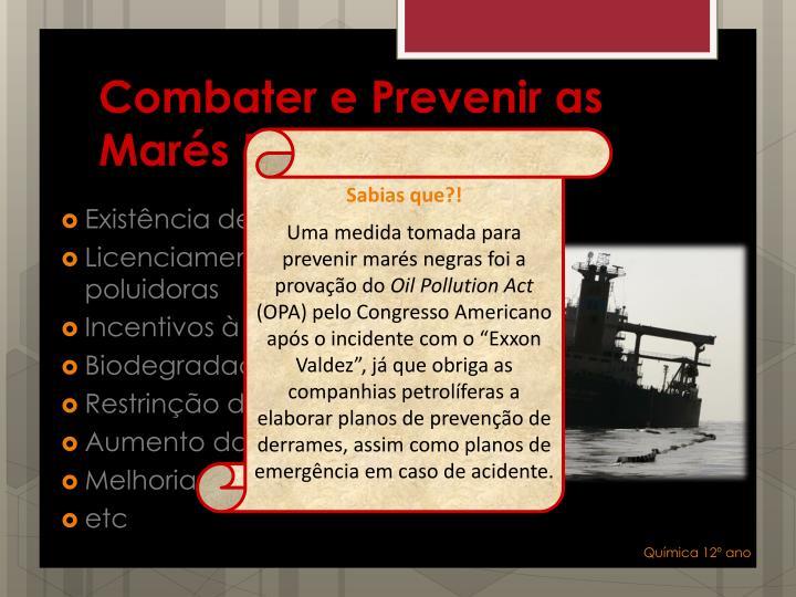 Combater e Prevenir as Marés Negras