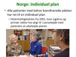norge individuel plan