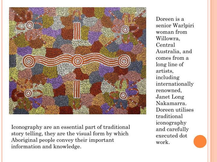 Doreen is a senior Warlpiri woman from