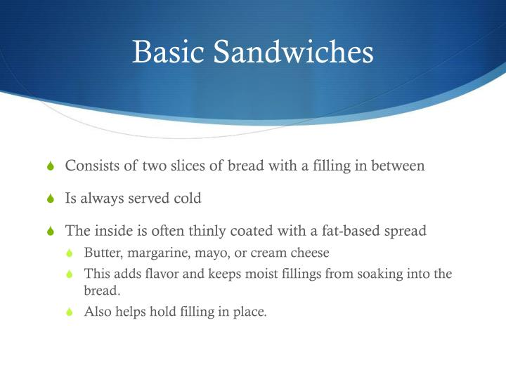 Basic Sandwiches