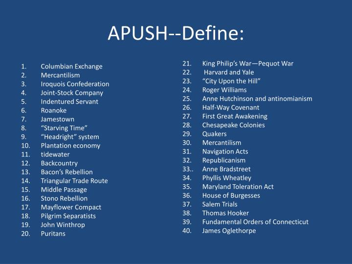 headright system apush