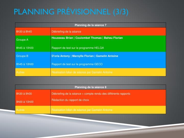 PLANNING prévisionnel (3/3)