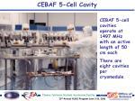 cebaf 5 cell cavity