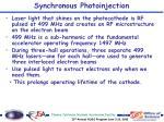 synchronous photoinjection