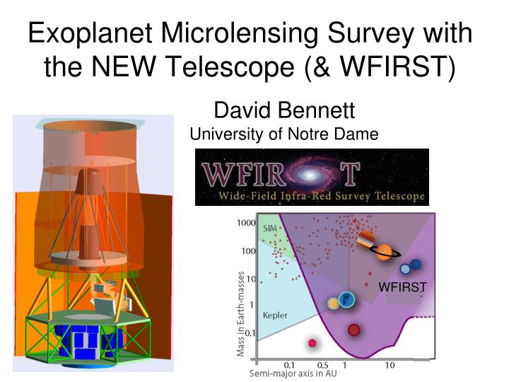 Exoplanet microlensing survey with the new telescope wfirst