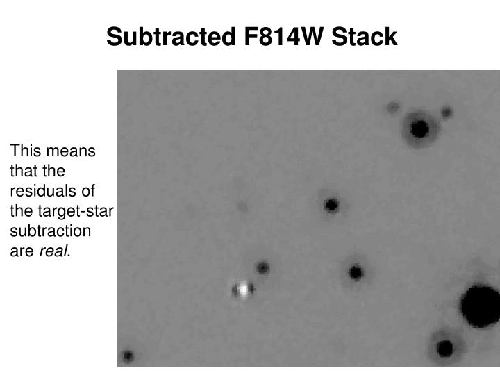 Subtracted F814W Stack