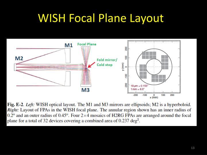 WISH Focal Plane Layout