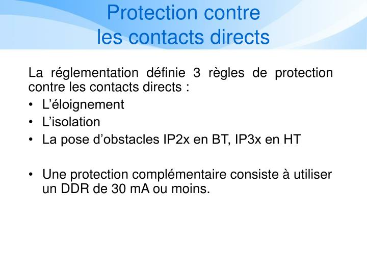 Protection contre