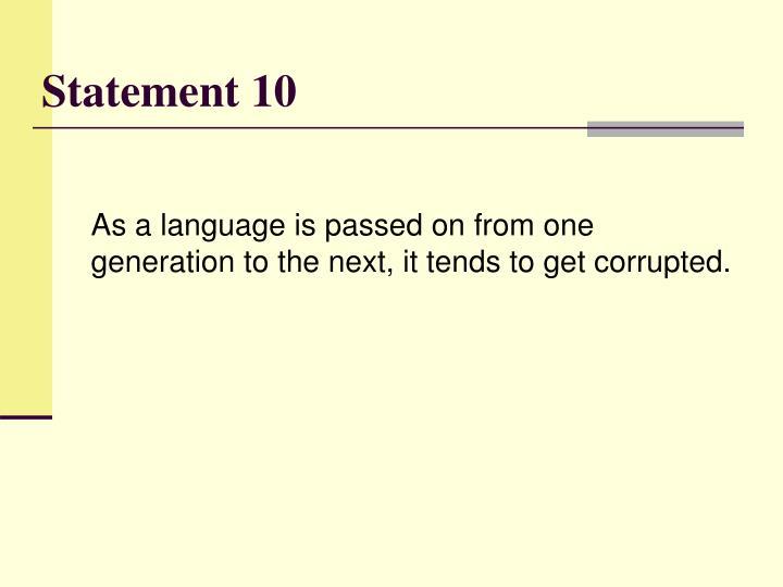 Statement 10