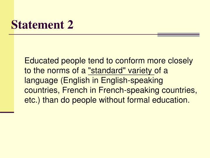 Statement 2