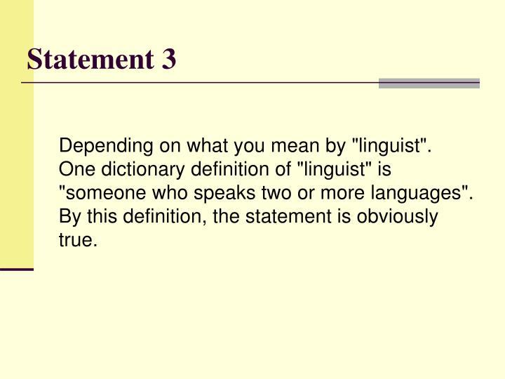 Statement 3