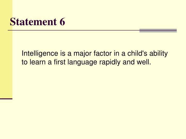 Statement 6