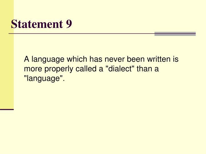 Statement 9