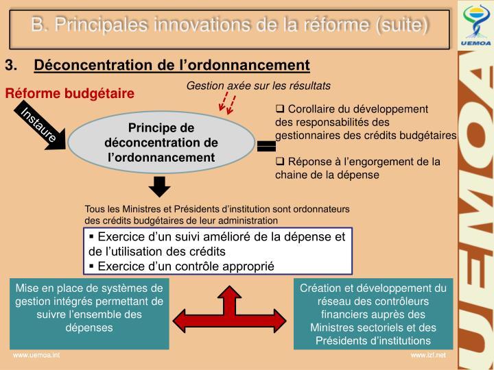 B. Principales