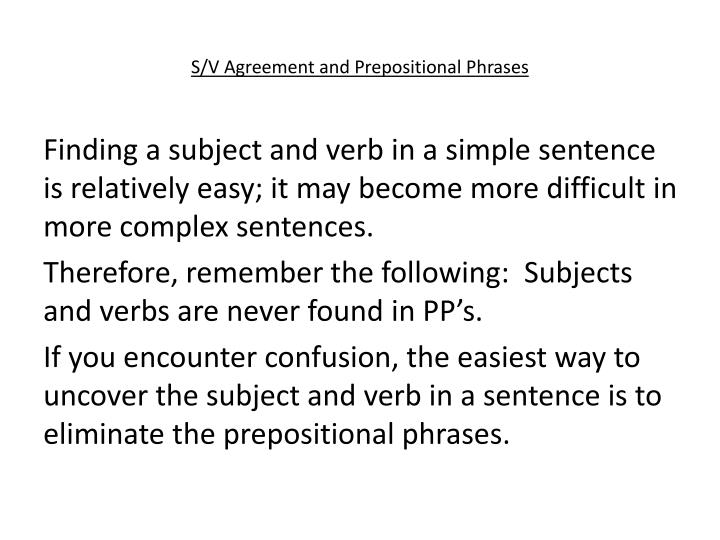 Ppt Subjectverb Agreement Powerpoint Presentation Id1943937