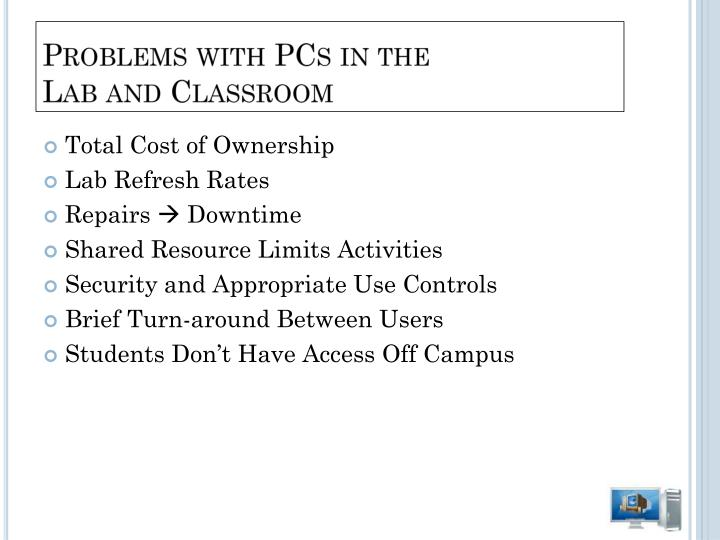 Problems with PCs in the