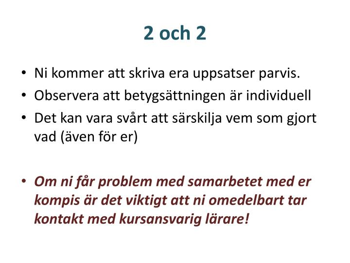 2 och 2