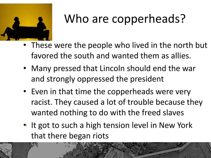 Who are copperheads?