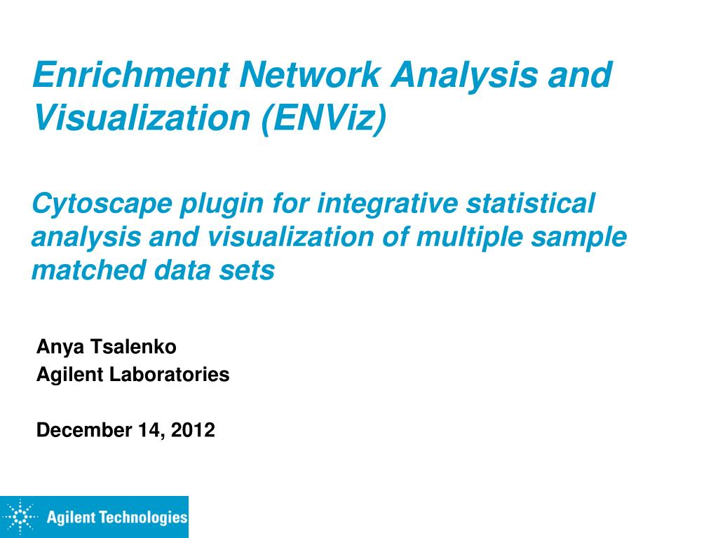 PPT - Enrichment Network Analysis and Visualization (ENViz